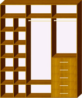 Трехдверный шкаф