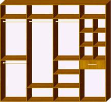 Четырехдверный шкаф