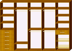 Пятидверный шкаф