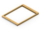 Выдвижная рамка для корзин дуб-платина